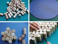 imagen Reciclando en el hogar: alfombra hecha con corchos