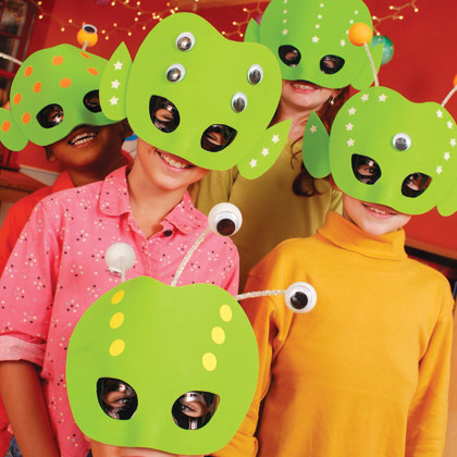 Aliens máscaras para hacer en casa