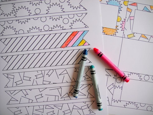Decoración de fiestas para imprimir y colorear1