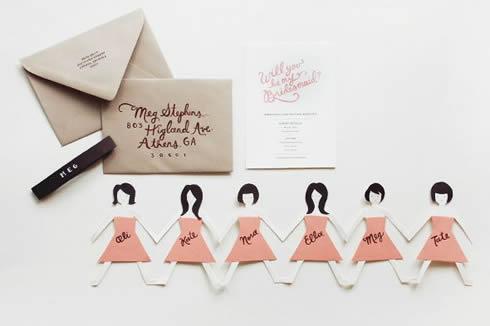 Invitaciones para madrinas de casamiento