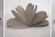 imagen Manualidades con papel: libreta corazón