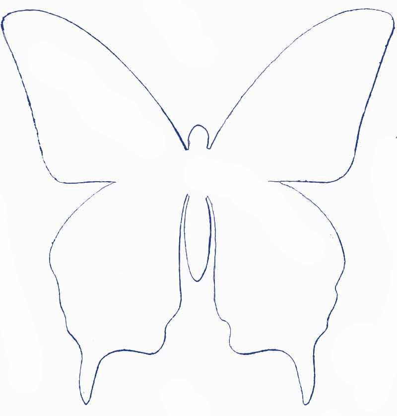 Moldes de mariposas en papel para decorar