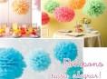 imagen Pompones de papel para decorar