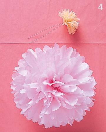 Pompones de papel para decorar0