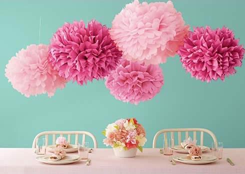 Pompones de papel para decorar1