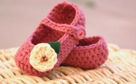 Tejido a crochet tiernos escarpines