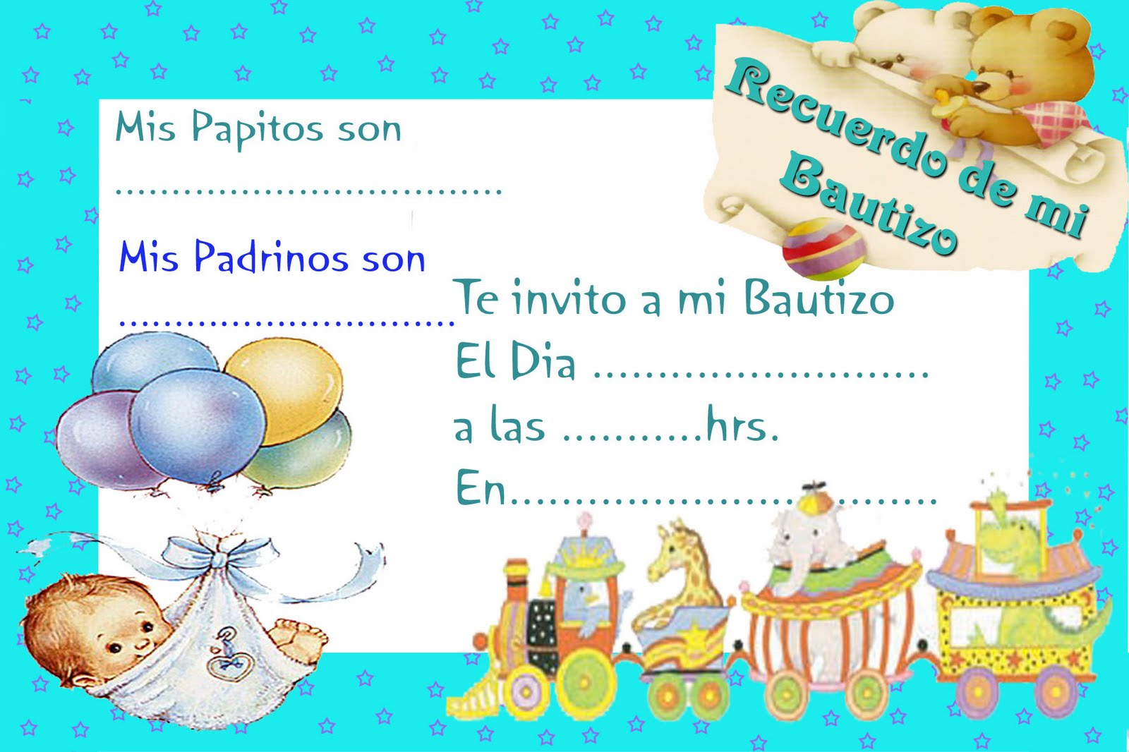Bebés en invitaciónes para 1 año y bautismo - Imagui