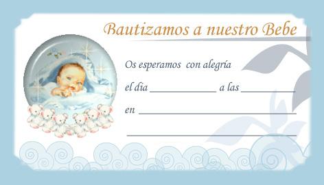 Ideas para bautismo: tarjetas para imprimir - Guía de MANUALIDADES