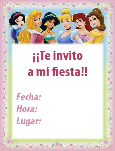 Tarjetas de las princesas de disney para personalizar - Fiestas de cumpleanos de princesas ...