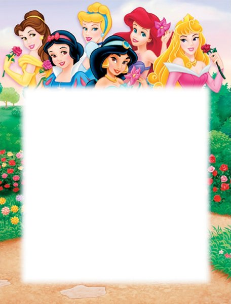 Marcos de princesas Disney para fotos - Imagui
