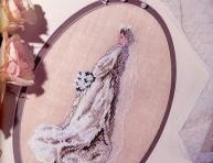 imagen Novia en punto cruz para álbum de recuerdos