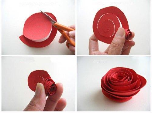 Manualidades Con Papel Delicadas Rosas Guia De Manualidades