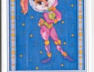 imagen Bugs Bunny en punto cruz