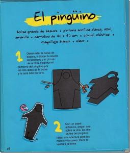 Idea para hacer un disfraz de pingüino - Paso a Paso 1