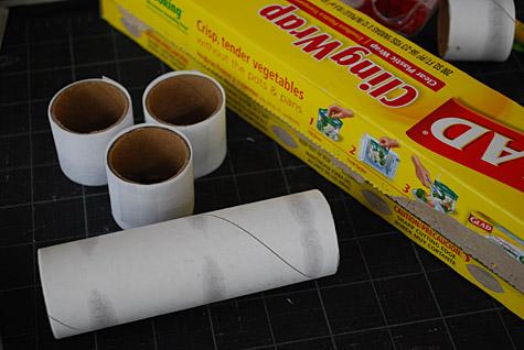 Servilleteros de papel y tela - Paso 1