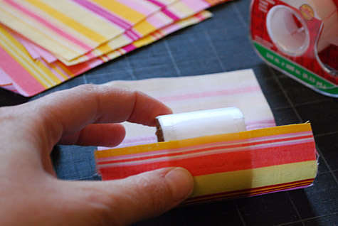 Servilleteros de papel y tela - Paso 3