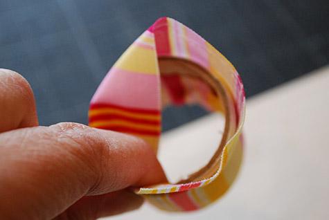 Servilleteros de papel y tela - Paso 4