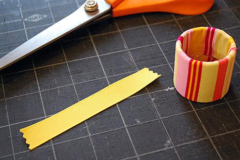 Servilleteros de papel y tela - Paso 5
