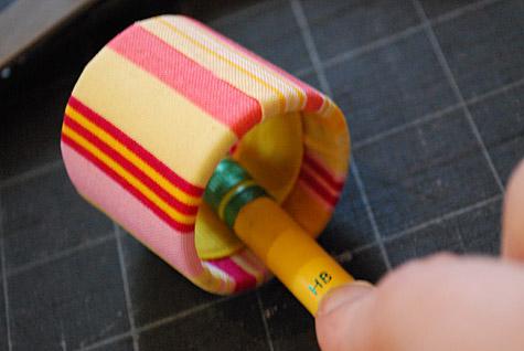 Servilleteros de papel y tela - Paso 6