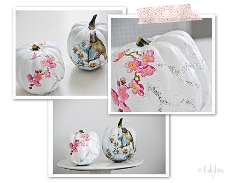 Calabazas decoradas con decoupage gu a de manualidades - Calabazas pintadas y decoradas ...
