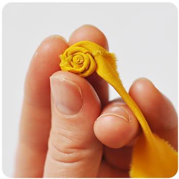 Flores de tela - Paso 5