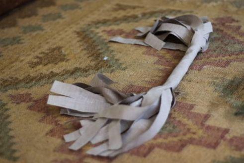 Guirnalda con retazos de tela - Paso 3