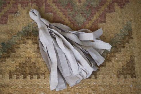 Guirnalda con retazos de tela - Paso 4