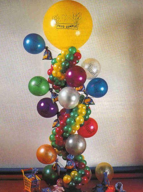 Portasouvenirs y sorpresas con globos - Guía de MANUALIDADES