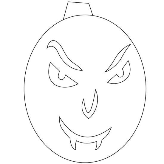 Calabaza De Halloween Para Colorear, Dibujo de calabaza de Halloween ...