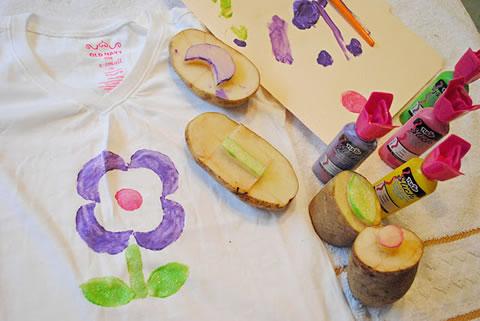 Camisetas personalizadas con Sellos de Papa