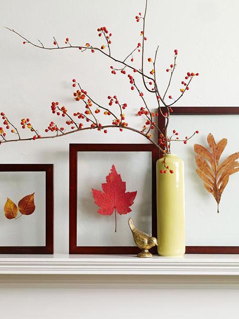 Decora con hojas secas en oto o gu a de manualidades for Decoracion con hojas secas