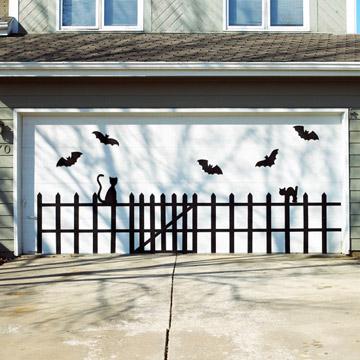 Decoración de Halloween para la Puerta del Garage