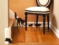 imagen Halloween: patrones de ratones y gato para hacer en fieltro