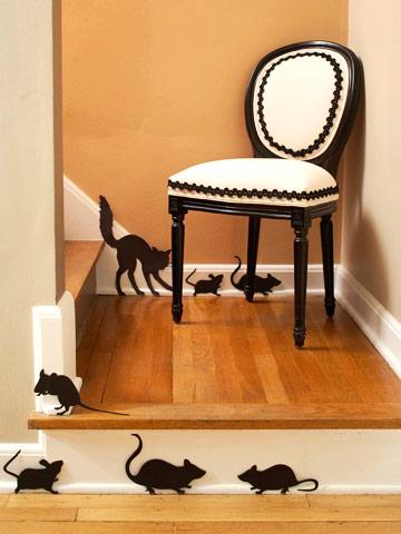 Halloween Patrones de Ratones y Gato para Hacer en Fieltro