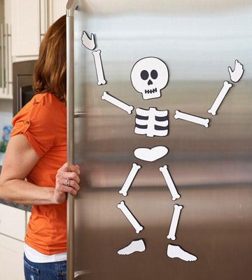 Halloween un Esqueleto para tu Refrigerador