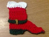 imagen La bota de Santa Claus en punto de cruz