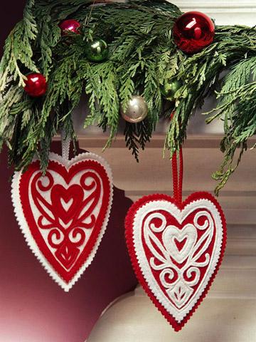 Corazones para el Árbol de Navidad