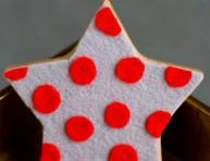 imagen Estrella de fieltro y madera
