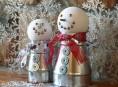 imagen Muñecos de nieve con materiales de la ferretería