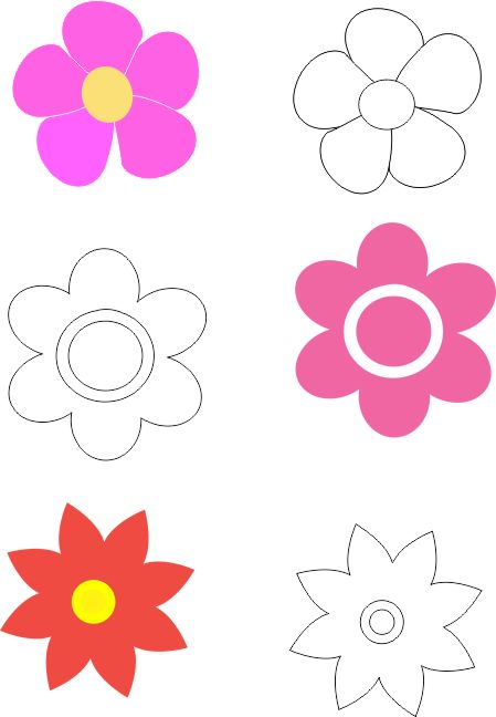 Moldes de flores de fomi para imprimir - Imagui