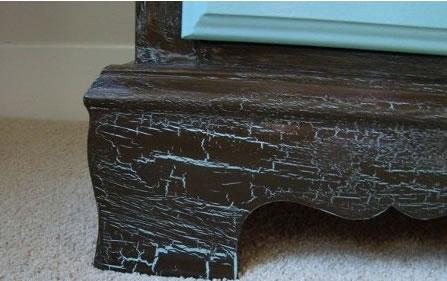 Как сделать эффект потертости на мебели