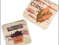 imagen Decoupage: posavasos de madera de estilo vintage