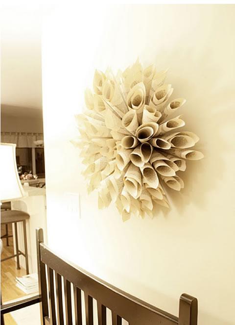 Flores de papel para decorar paredes imagui - Manualidades para decorar paredes ...