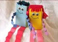 imagen Muñecos hechos con envases de zumos
