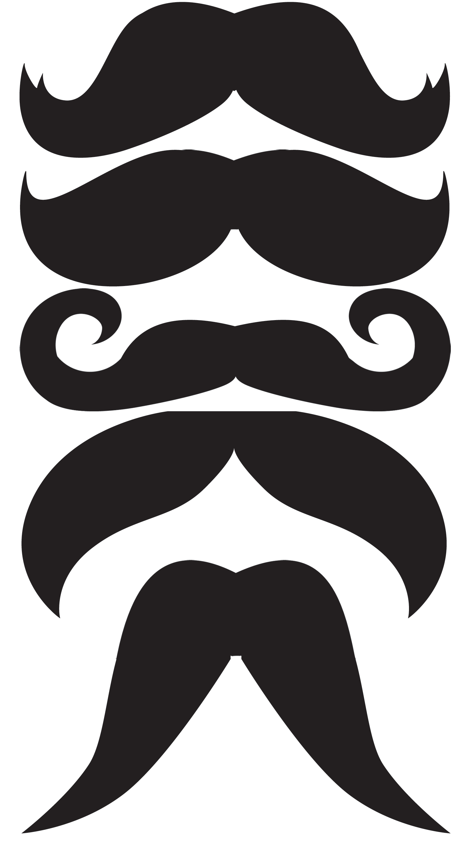 Free Mustache Cut Out Template
