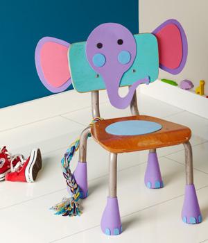 Decora una silla de elefante con goma eva gu a de - Goma espuma para sillas ...
