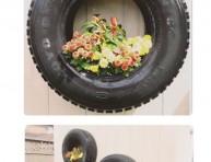 imagen Transforma neumáticos en maceteros