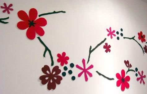 Dise o en fieltro para la pared gu a de manualidades - Disenos para pintar paredes ...