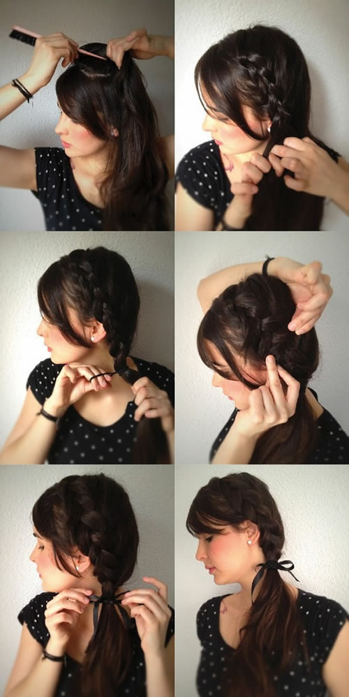 Peinados on pinterest trenza cascada fiestas and - Trenzas de lado ...