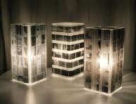imagen Lámpara decorada con negativos de fotografías